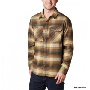 Columbia Outdoor Elements™ Stretch Flannel Olive Brown Plaid