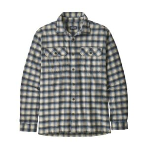 Patagonia Fjord Flannel Skjorte Oyster White