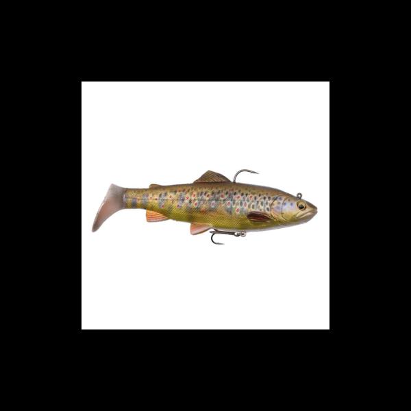 Savage Gear 4d Trout Rattle Shad 20,5cm - 120gr Dark Brown Trout - Softbait