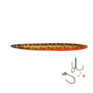 Savage Gear Line Thru Sandeel Eel Pout Collection 8,5cm - 11gr Gold Pout - Gennemløber