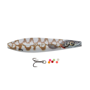 Savage Gear Line Thru Seeker Eel Pout Collection 7,5cm - 18gr White Pout - Gennemløber