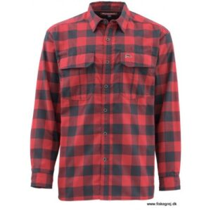 Simms Coldweather Skjorte Red Buffalo Plaid