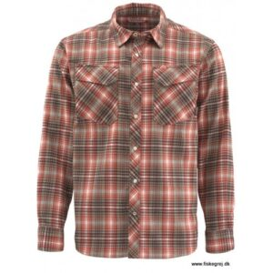 Simms Gallatin Flannel Skjorte Simms Orange Plaid