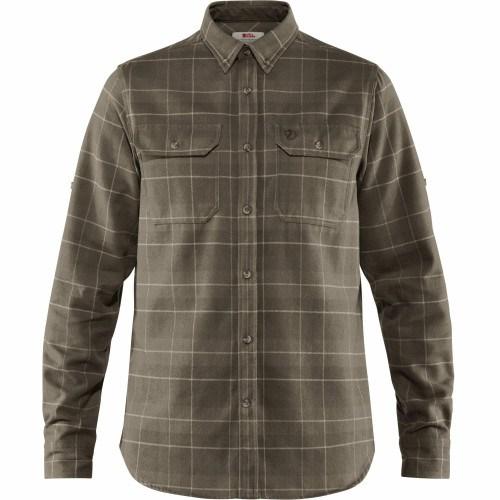 Fjällräven Singi Heavy Flannel Skjorte Dark Olive