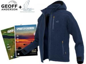 Geoff Anderson Teddy blå - Inkl. medlemskab af Danmarks Sportsfiskerforbund