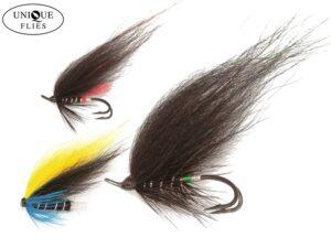 Unique Black Salmon Flies