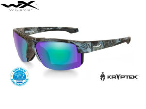 Wiley X COMPASS Pol Emerald Mirror Kryptek Neptune Frame