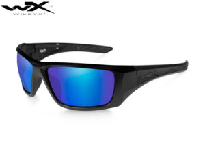 Wiley X NASH Polarized Blue Mirror Matte Black Frame