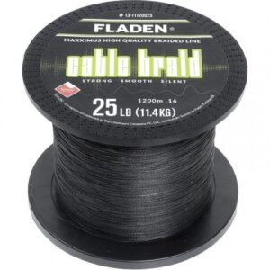 Fladen Cable Braid Sort 1200m