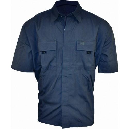Geoff Anderson Guereza Kortærmet Skjorte Blå