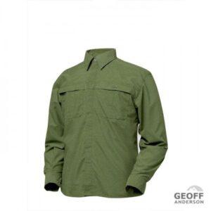 Geoff Anderson Morada Langærmet Skjorte Grøn Small
