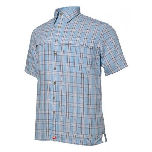 Geoff Anderson Tonga Kortærmet Skjorte Blå