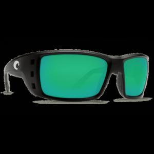 Costa Permit 580G Matte Black/Green Mirror