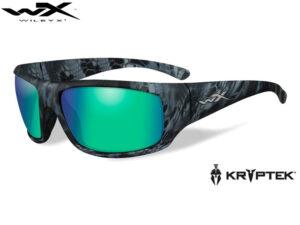 Wiley X OMEGA Polarized Emerald Mirror Kryptek® Neptune™ Frame