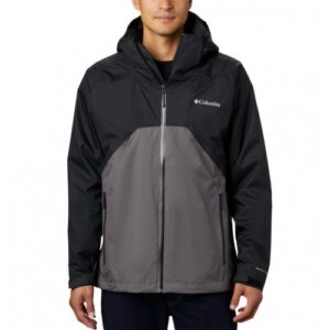 Columbia Rain Scape™ Jacket Black, City Grey