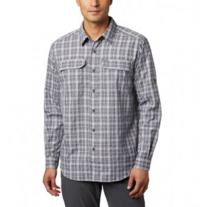 Columbia Silver Ridge™ 2. Plaid LS Skjorte Black Gingham
