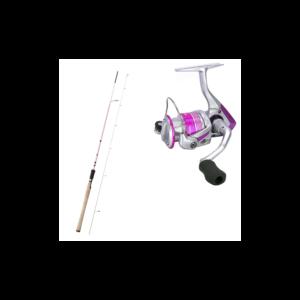 Okuma Pink Pearl Sæt 8'2 10-32gr - Spinnesæt