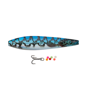 Savage Gear Line Thru Seeker Eel Pout Collection 7cm - 13gr Blue Silver Pout - Gennemløber