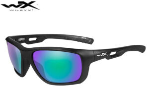 Wiley X ASPECT Pol Emerald Mirror Lens Matte Black Frame