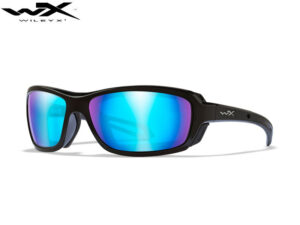 Wiley X WAVE Polarized Blue Mirror Gloss Black Frame