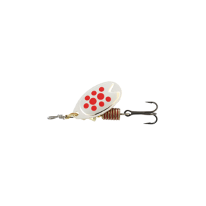 Abu Garcia Fast Attack 4,5 G Silver/red Dots - Spinnere