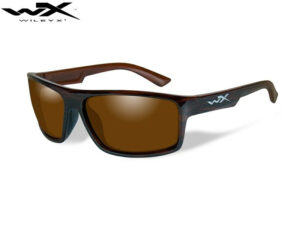 Wiley X PEAK Polarized Amber Gloss Layered Tortoise Frame