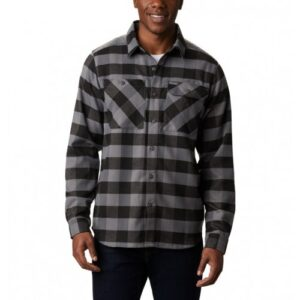 Columbia Outdoor Elements™ Stretch Flannel Grå/Sort