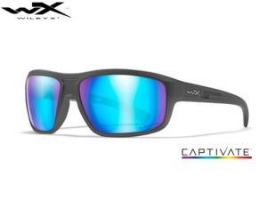 Wiley X CONTEND Captivate Blue Mirror Matte Graphite Frame