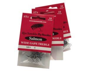 3 pakker sawada st4 wide gape treble
