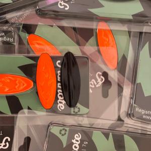 Fishnote Trout Lure 7 Gr Orange/sort - Gennemløber