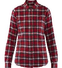 Fjällräven Övik flannel shirt deep red