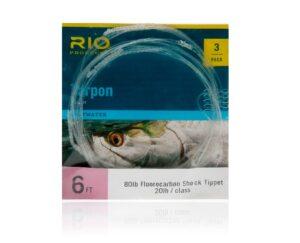Rio fluorocarbon shock tippet - tarpon - 3 stk. pakning