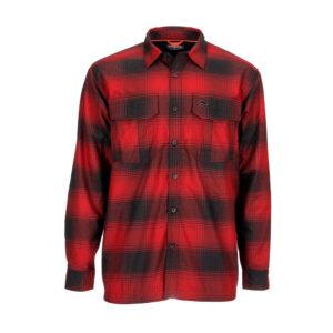 Simms coldweather shirt auburn red plaid