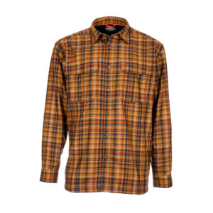 Simms coldweather shirt dark bronze admiral plaid