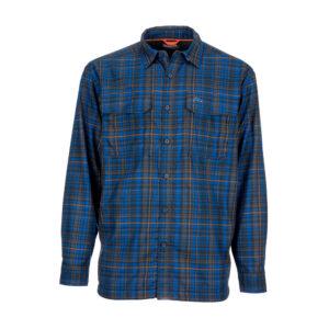 Simms coldweather shirt rich blue admiral plaid
