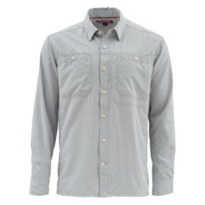 Simms ebb tide ls shirt - sterling #meidum