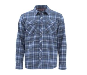 Simms | gallatin flannel | rich blue | large