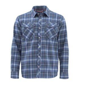Simms | gallatin flannel | rich blue | xxl