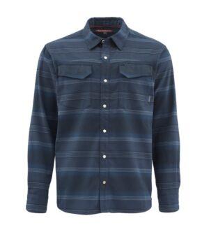 Simms gallatin flannel shirt admiral blue stripe