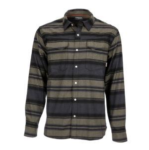 Simms gallatin flannel shirt carbon stripe