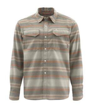 Simms gallatin flannel shirt dark stone stripe