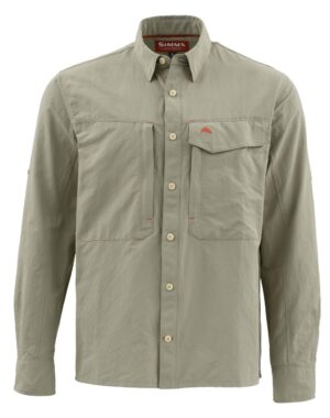Simms guide ls shirt - dark khaki