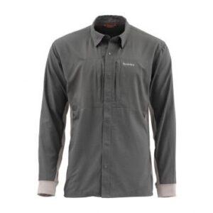 Simms intruder bicomp fishing shirtshirt slate