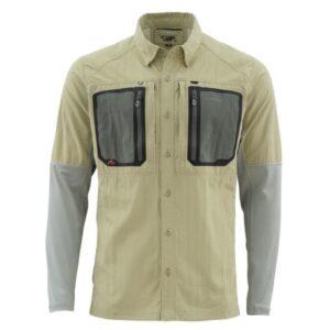 Simms taimen tricomp ls shirt - sage