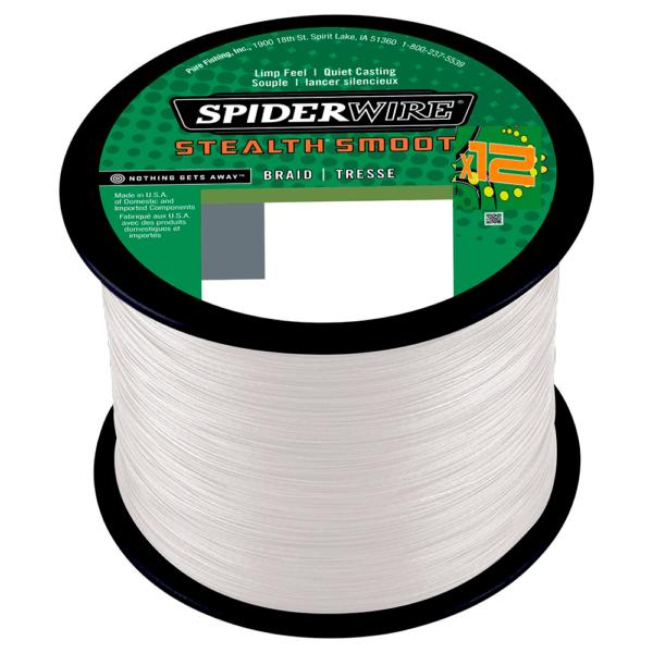 Spiderwire Stealth Smooth 12 1m Påspolet 0,13mm - Fletline