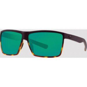 Costa Rincon 580P Matte Black-Shiny Tortuise/Green Mirror