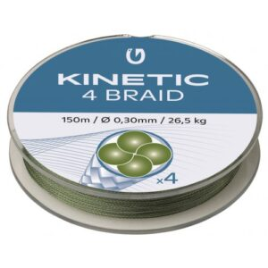 Kinetic 4 Braid 150m Dusty Green