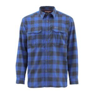 Simms cold weather shirt - rich blue