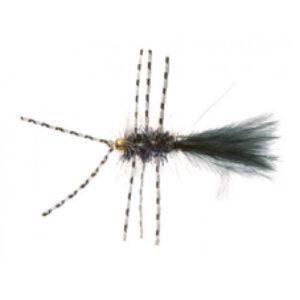 Unique P&T 2 FL54009 Crystal Bugger Rubber Leg Black Daiichi 1560 #8
