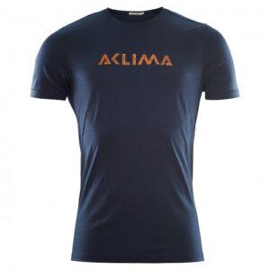 Aclima Lightwool T-Shirt Logo Navy Blazer